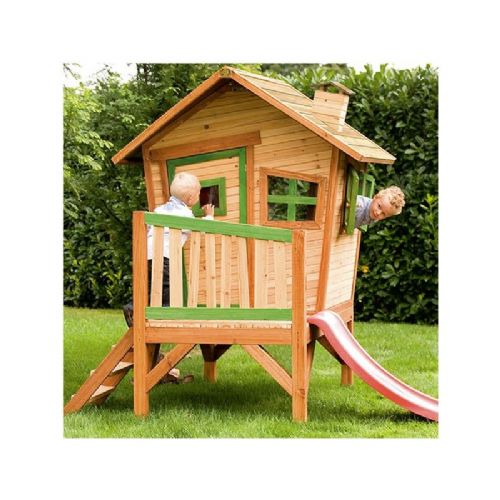 Rollesby Playhouse - Crazy Wooden Wendy House with Slide